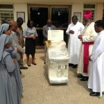 ARCHBISHOP OF ACCRA DONATE ULTRASOUND MACHINE TO KORDIABE CLINIC